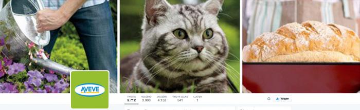 Het Twitterprofiel van Aveve, anno april 2016…