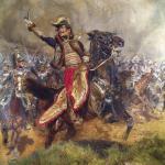 Antoine-Charles-Louis de Lasalle. Deze 'charge' tijdens de Slag bij Wagram zou de 'Huzarengeneraal' niet overleven…