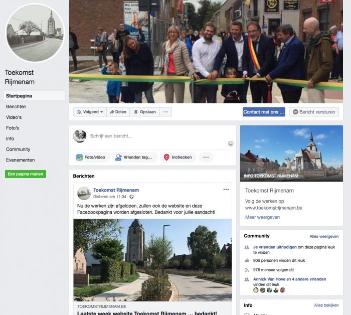 Toekomstrijmenam Facebookpagina
